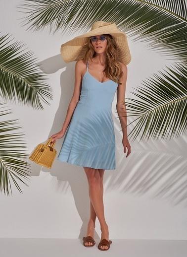 Morhipo Beach Sırt Bağlama Detaylı Elbise Mavi